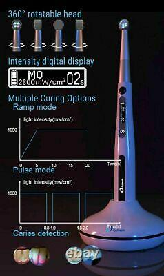Dental Eighteeth Medical Curing Pen 4 Leds Curing Light Caries Detector