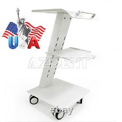 Dental Medical Cart Metal Built-in Socket Tool Mobile Cart Chariot Dentaire