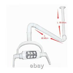 Dental Oral Light Operate Medical Lamp 6 Led Lens Ceiling Mount With Support Arm