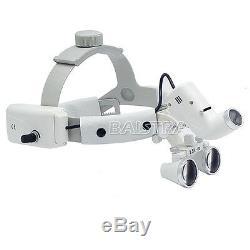 Dentiste Chirurgie Dentaire Bandeau Led Médicale Lumière Loupes Binoculaires 3.5x Dy-106