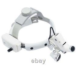 Dentiste Dentaire Surgical Headband Medical Led Light Binocular Loupes 3.5x Optics