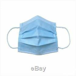 Dispos 50pcs. Industrie Dentaire Médicale Masque Preuve Visage Poussière Respiratoire Bleu 3 Pli