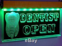 H003 Animé Dentiste Led Open Sign Clinique Dentaire Médicale Magasin Dents Neon Light