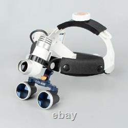Lampe Frontale Médicale Chirurgicale Dental 3w Led Head Light + Loupes Binoculaires 3.5x420mm