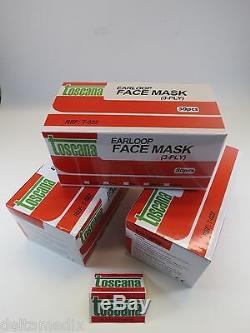 Masque Dentaire Visage Médical Avec Earloops De Haute Qualité Boîte Rose 6/300 Pcs Toscana