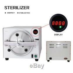 Médical 18l Dentaire Autoclave À Vapeur Stérilisateur Laboratoire Stérilisateur Équipement 900w