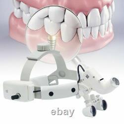 Medical Dental 3.5x-420mm Bandeau Binoculaire Loupes Loupe + Phare Led 5w