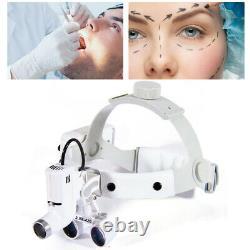 Medical Dental Surgical 3.5x Bandeau Loupes Binoculaires Loupes Loupe & Phare Led