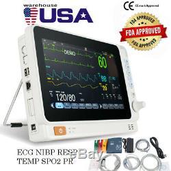 Moniteur Dentaire Du Patient Médical 6 Paramètres 10inch Vital Sign Cardiaque Machine Fda