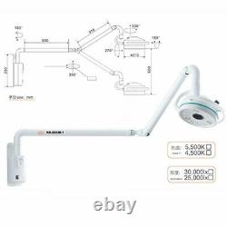 Mur Dentaire Suspendu 36w Surgical Medical Exam Light Led Shadowless Cold Lamp