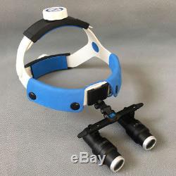Nouveau 4x 6x Chirurgie Dentaire Bandeau Médicale Grossissement Objectif Loupes Microscope