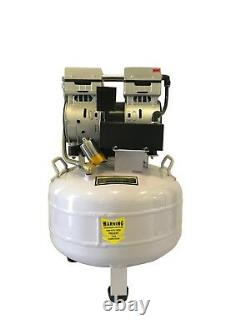 Nouveau Compresseur D'air Dentaire 220v De 1 Hp, 8 Gallons, Sans Bruit Médical Et Sans Huile