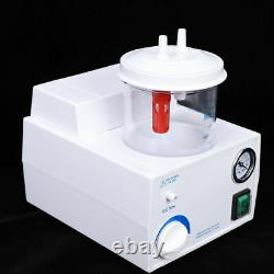 Portable Dental Medical Emergency Vacuum Phlegm Suction Unit Electric 1000ml États-unis