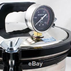 Pression 8l Stérilisation Dentaire Médicale Vapeur Autoclave Stérilisateur Machine Us