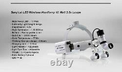 Projecteur Dentaire Sans Fil Loupe Led Ent Projecteur Chirurgical Médical 10w Portable