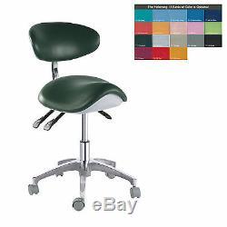 Pu Cuir Médical Dentaire Selle Chair Tabourets Infirmière Réglable Doctors Mobile