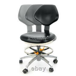 Pu Leather Dental Tabouret Doctor Assistant Mobile Chaise Réglable Noir