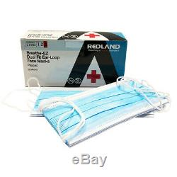 Redland Earloop Vétérinaire Dentaire Médicale Grippe 99,5% Masque Visage Astm Niveau 3 500 Pcs Fda