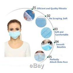 Safe Masque Facial Set Dentaires À Usage Unique Oreille Poussière Chirurgicale Médicale Boucle Bouche Sécurité