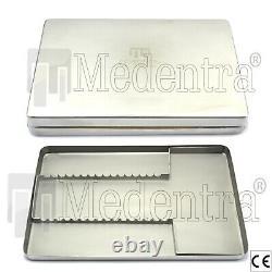 Scaler Dentaire En Acier Inoxydable Médical Installe Boîte De Plateau De Cassette 288 X 187 X 29 MM