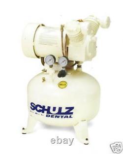 Schulz Compresseur D'air Dentaire / Médical Sans Huile 1ch + Cabinet