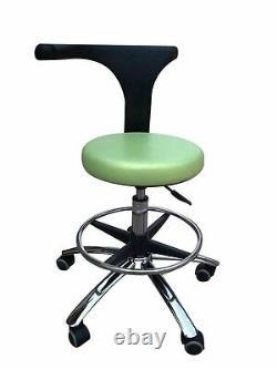 Tabourets De Bureau De Médecine Dentaire Tabourets De L'assistant Tabourets Réglables Chaise Mobile Pu Vert