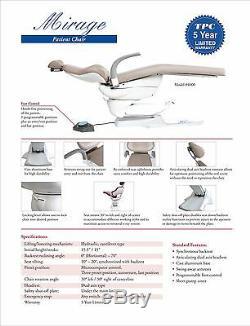 Tpc Mirage Hydraulique Des Patients Président -dental Tatouage Médical 5yr Garantie -fda