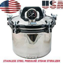 USA 8l Medical Dental Sterilization Pressure Steam Autoclave Stérilisateur Machine