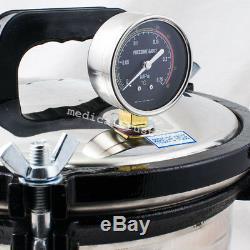 Un 8l Portable Dentaire Médical Autoclaves Pression Vapeur Stérilisateur Stérilisation