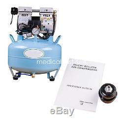 Une Large Utilisation Médicale Noiseless Dentaire Silencieux Oilless Compresseur D'air W Pièce À Main Led