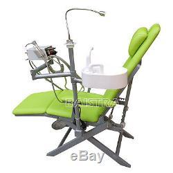 Unité Portable Pliant Dentaire Médicale Chaise Avec Turbine Unité 4 Trous Et Led