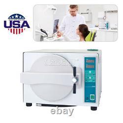 Ups Dental Lab Medical 18l Autoclave Stérilisateur Aspirateur Vapeur Automatique & Séchage