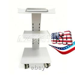 Ups Medical Dental Trolley Medical Cart Salon Equipment Three Layers With Brakes