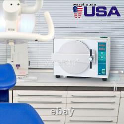 Us 18l Autoclaves Vapeur Stérilisateur Médical Sterilizition + Fonction Séchage Dentaire