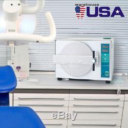 Us 18l Dentaire Autoclave À Vapeur Stérilisateur Médical Sterilizition + Fonction De Séchage