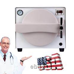 Us 18l Stérilisateur À Vapeur D'autoclave De Médecine Dentaire Désinfection Stérilisation 134