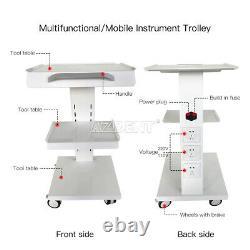 Us Dental Lab Intégré Socket Medical Cart Metal Mobile Instrument Cart Trolley