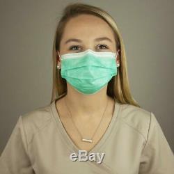 Visage Jetable Masque Chirurgical Médical Dentaire Anti-poussière Nail Earloop 3-ply 100pcs