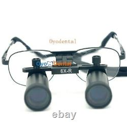 Ymarda 6.0x 420mm Dental Binocular Loupes Médical Magnificateur Chirurgical Cadre Métallique